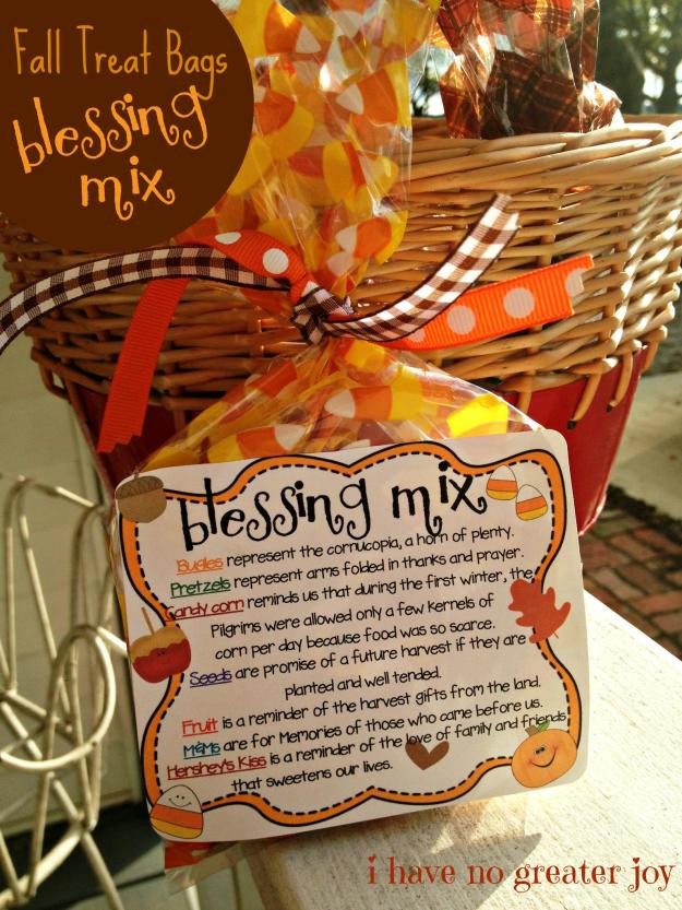 Thanksgiving Gift Ideas  Blessing Mix printable