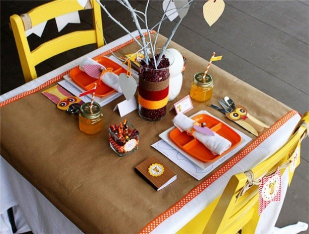 Thanksgiving Kids Table  Kids Thanksgiving Table Ideas B Lovely Events