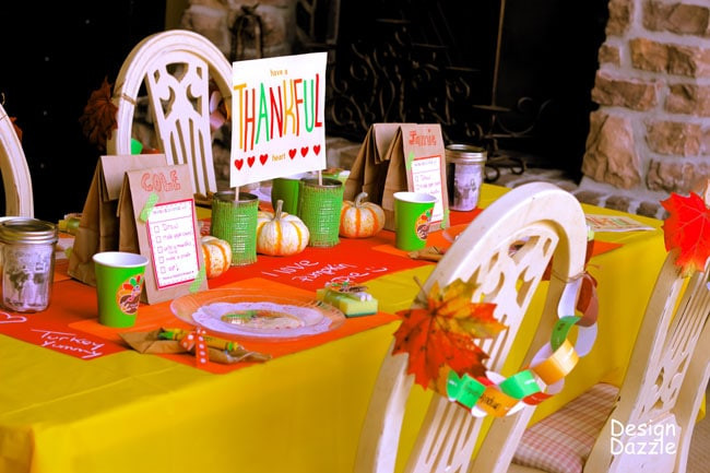 Thanksgiving Kids Table  Thanksgiving Kids Table 25 Crafts Activities and Games