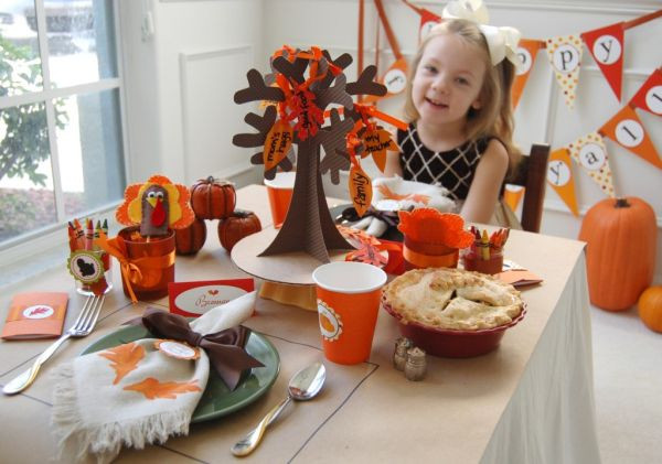 Thanksgiving Kids Table  Thanksgiving Crafts For Kids Table Decoration Ideas