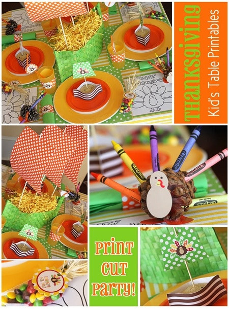 Thanksgiving Kids Table  Thanksgiving ideas