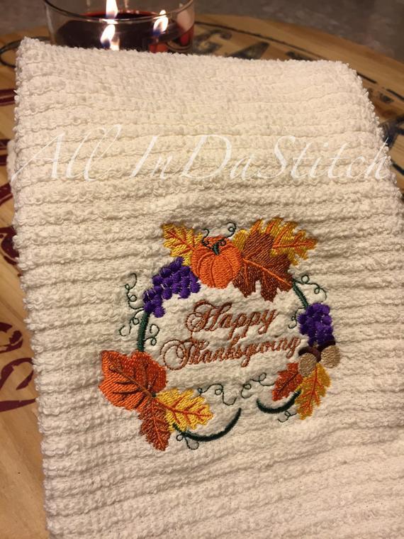 Thanksgiving Kitchen Towels  Thanksgiving Kitchen Towels
