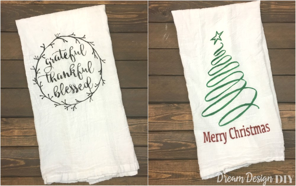 Thanksgiving Kitchen Towels  DIY Thanksgiving and Christmas Kitchen Towel Dream