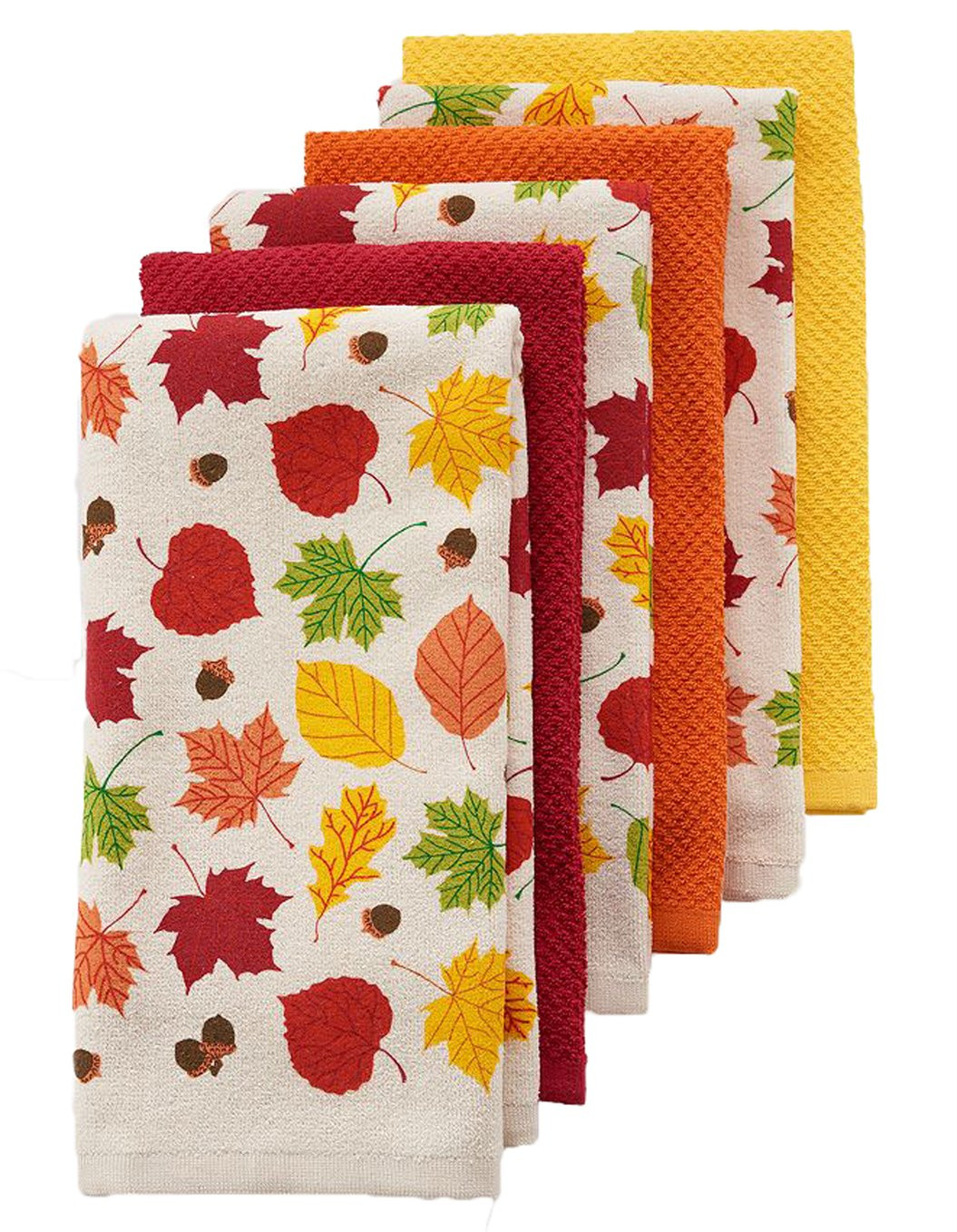 Thanksgiving Kitchen Towels  Thanksgiving Leaves Kitchen Towels