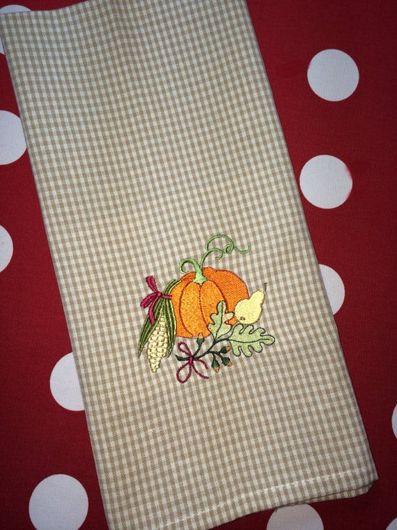 Thanksgiving Kitchen Towels  Thanksgiving Pumpkins Kitchen Towels Page Two