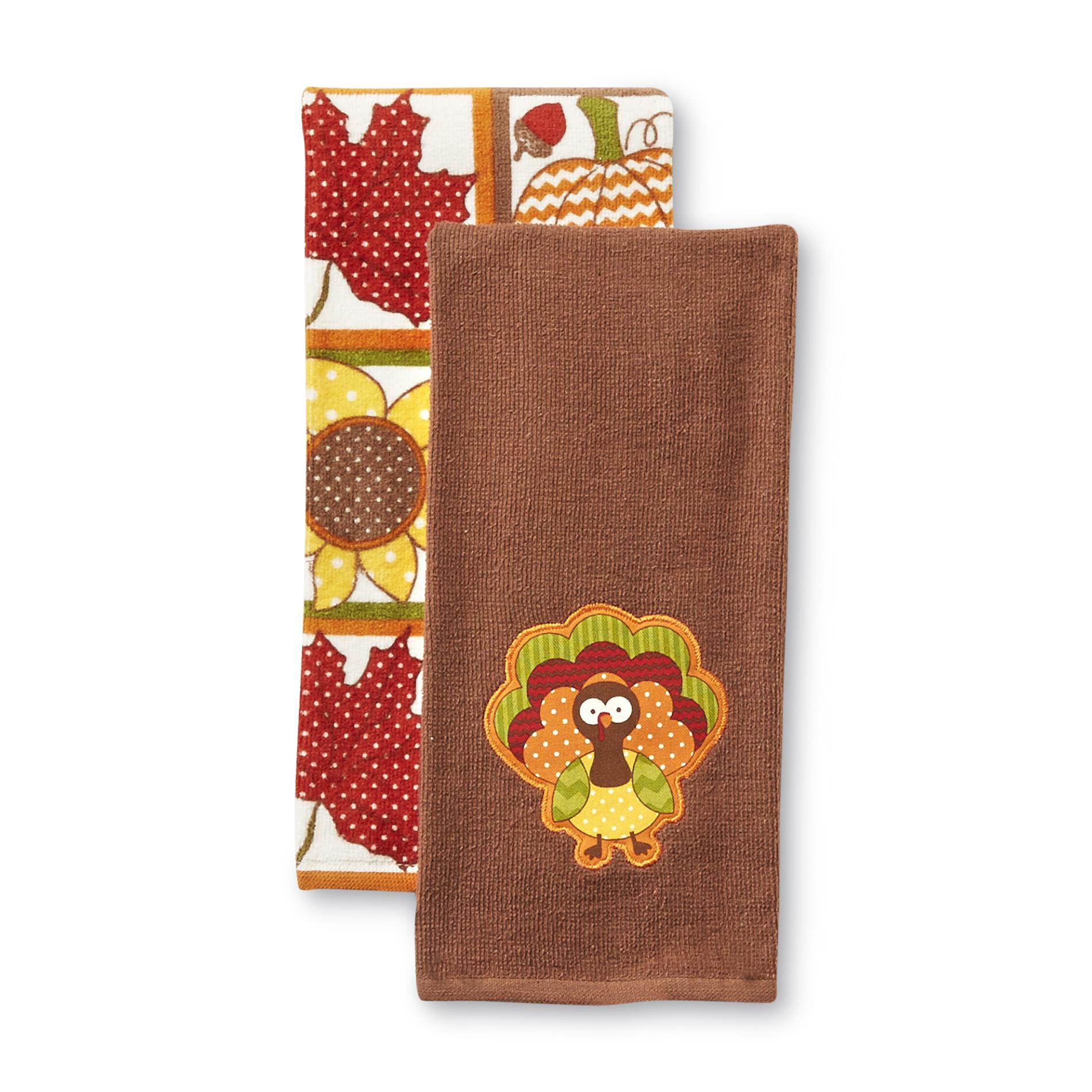 Thanksgiving Kitchen Towels  Sandra by Sandra Lee 2 Pack Holiday Kitchen Towels