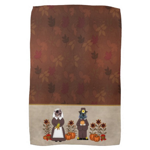 Thanksgiving Kitchen Towels  Thanksgiving Cats Kitchen Towel