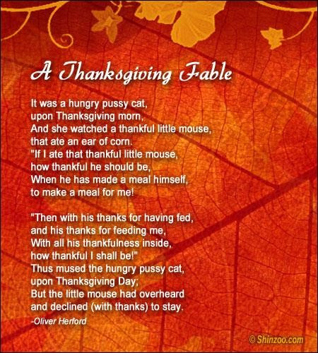 Thanksgiving Poems And Quotes  Thanksgiving poems 12 Collection Inspiring Quotes