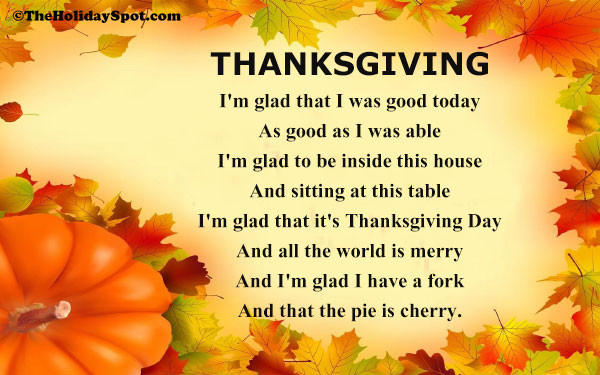 Thanksgiving Poems And Quotes  Thanksgiving Poems and Poetry