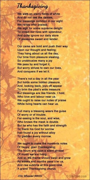 Thanksgiving Poems And Quotes  Thanksgiving Poems And Quotes QuotesGram