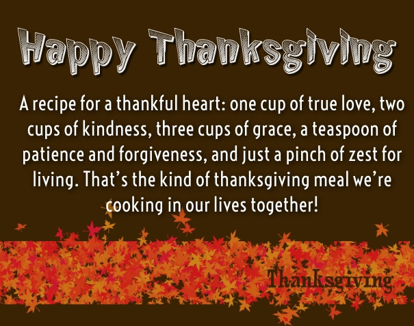 Thanksgiving Poems And Quotes  Thanksgiving Love Quotes for Her – Thank You Sayings