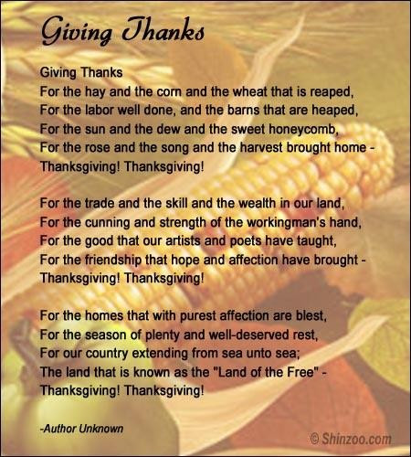 Thanksgiving Poems And Quotes  Thanksgiving poems 4 Collection Inspiring Quotes