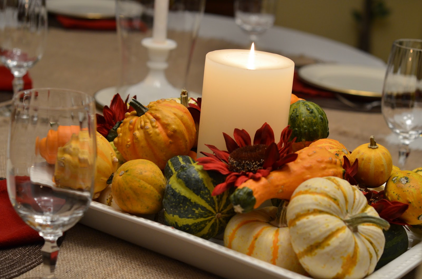 Thanksgiving Table Centerpieces  Southern Inspirations Thanksgiving Table & Dining Room Tour