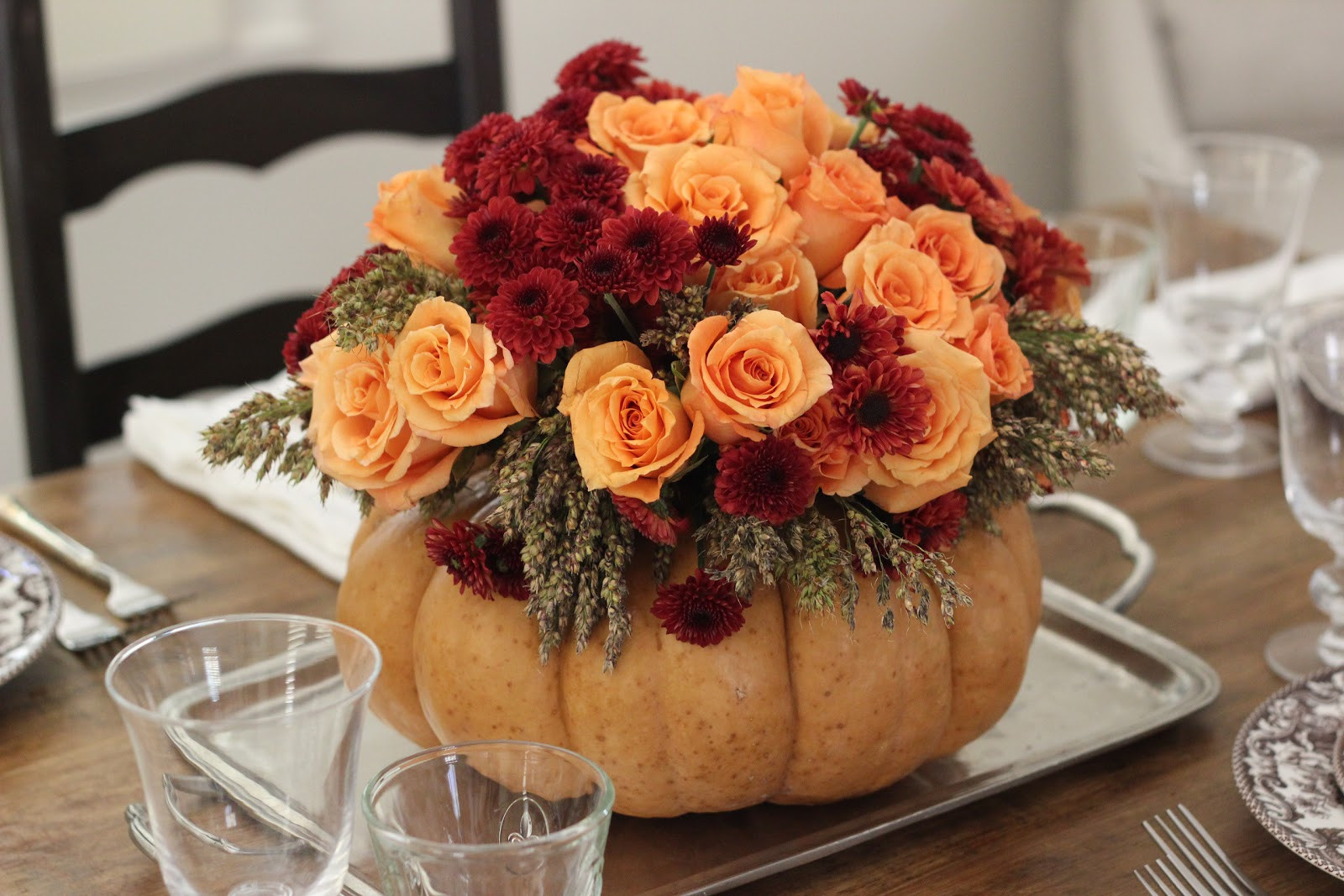 Thanksgiving Table Centerpieces  Jenny Steffens Hobick DIY Thanksgiving Centerpiece