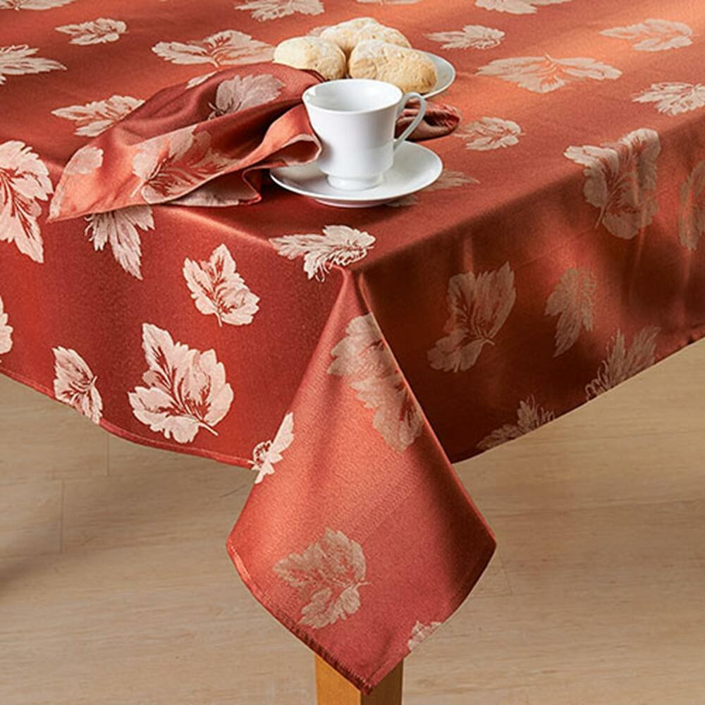 Thanksgiving Table Cloth  MADISON STRIE Damask Rust Color Thanksgiving Fall Autumn