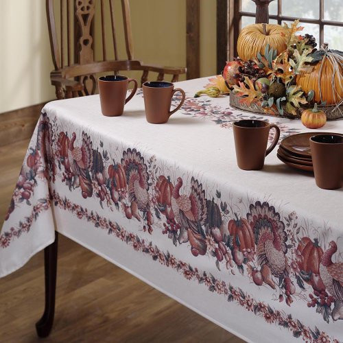 Thanksgiving Table Cloth  Great Fall Tablecloths To Take You All The Way Through