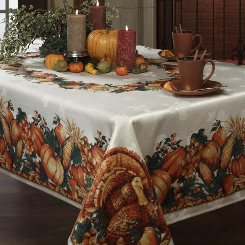 Thanksgiving Table Cloth  Thanksgiving Tablecloths