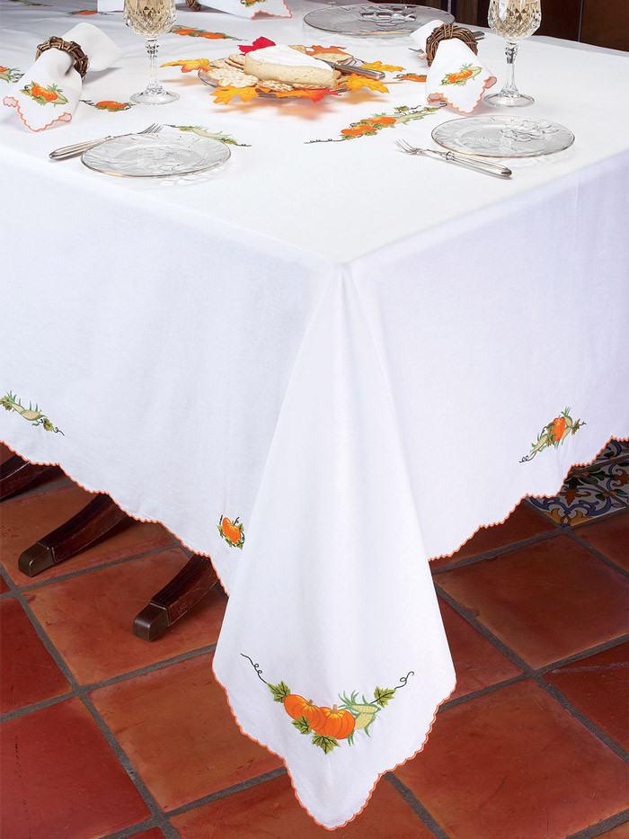 Thanksgiving Table Cloth  Turkey Time Thanksgiving Table Linens Schweitzerlinen