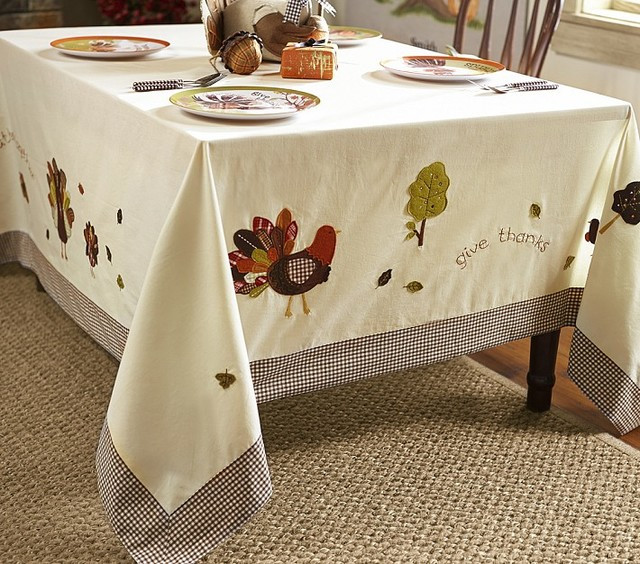 Thanksgiving Table Cloth  Thanksgiving Tablecloth Contemporary Holiday