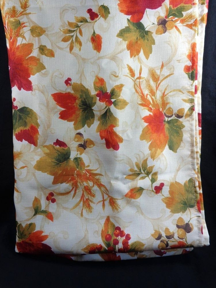 Thanksgiving Table Cloth  Fall Autumn Leaves Fabric Tablecloth 78 x 54 in Rectangle