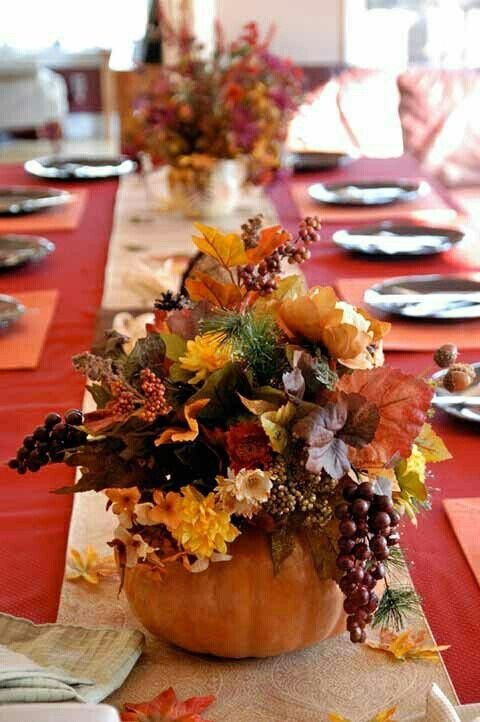 Thanksgiving Table Decor  25 Beautiful Fall Wedding Table Decoration Ideas Style