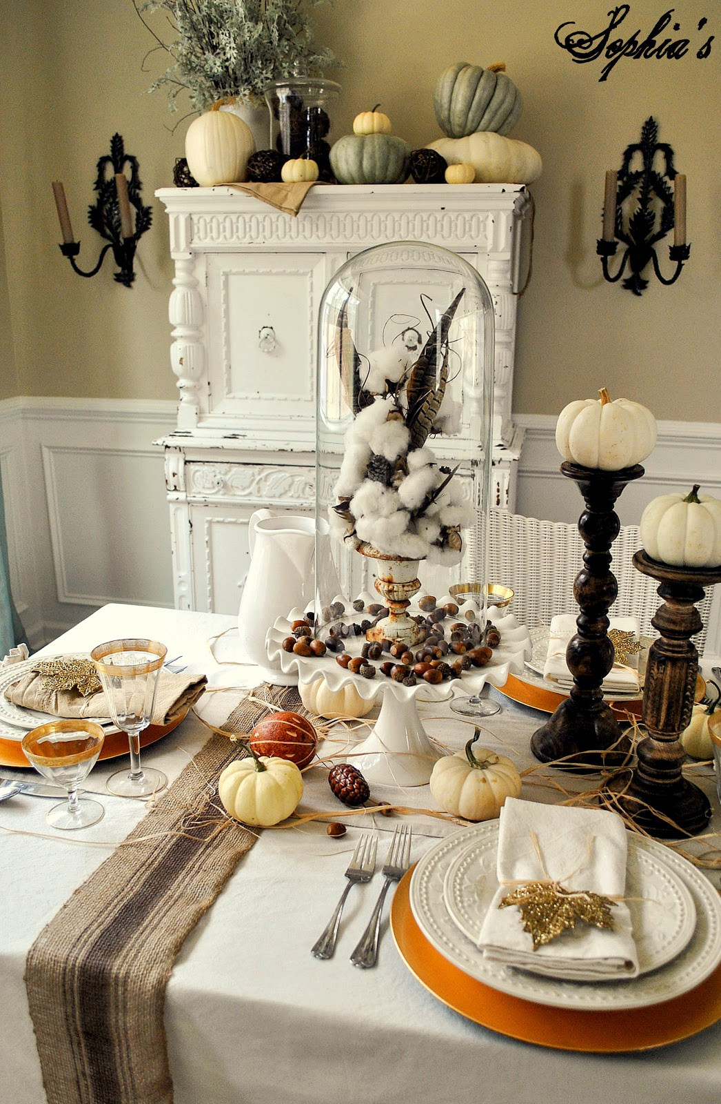 Thanksgiving Table Decor Ideas  Sophia s Thanksgiving Table Setting