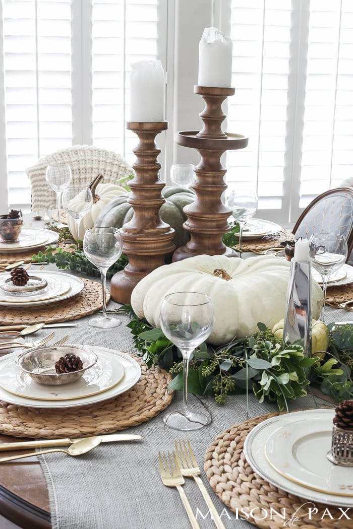 Thanksgiving Table Decor Ideas  Thanksgiving Table Decorations and Ideas Maison de Pax