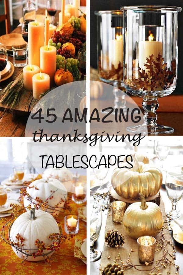 Thanksgiving Table Decor Ideas  47 Fabulous DIY ideas for Thanksgiving table decor