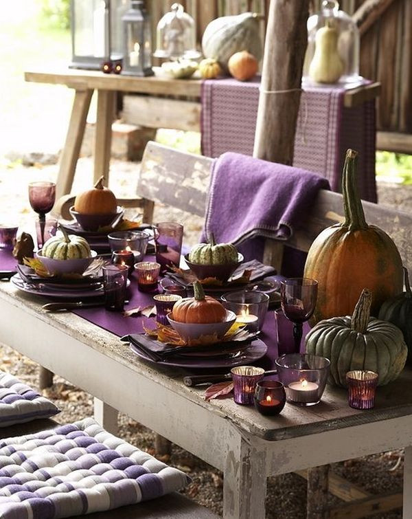 Thanksgiving Table Decor Ideas  16 Thanksgiving Decor Ideas In Purple