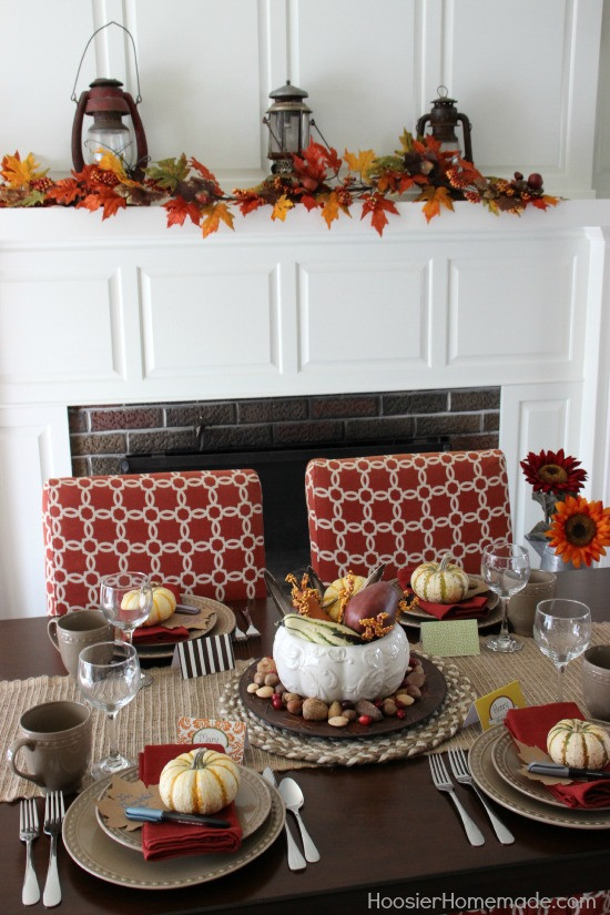Thanksgiving Table Decor  Simple Thanksgiving Table Decoration Hoosier Homemade