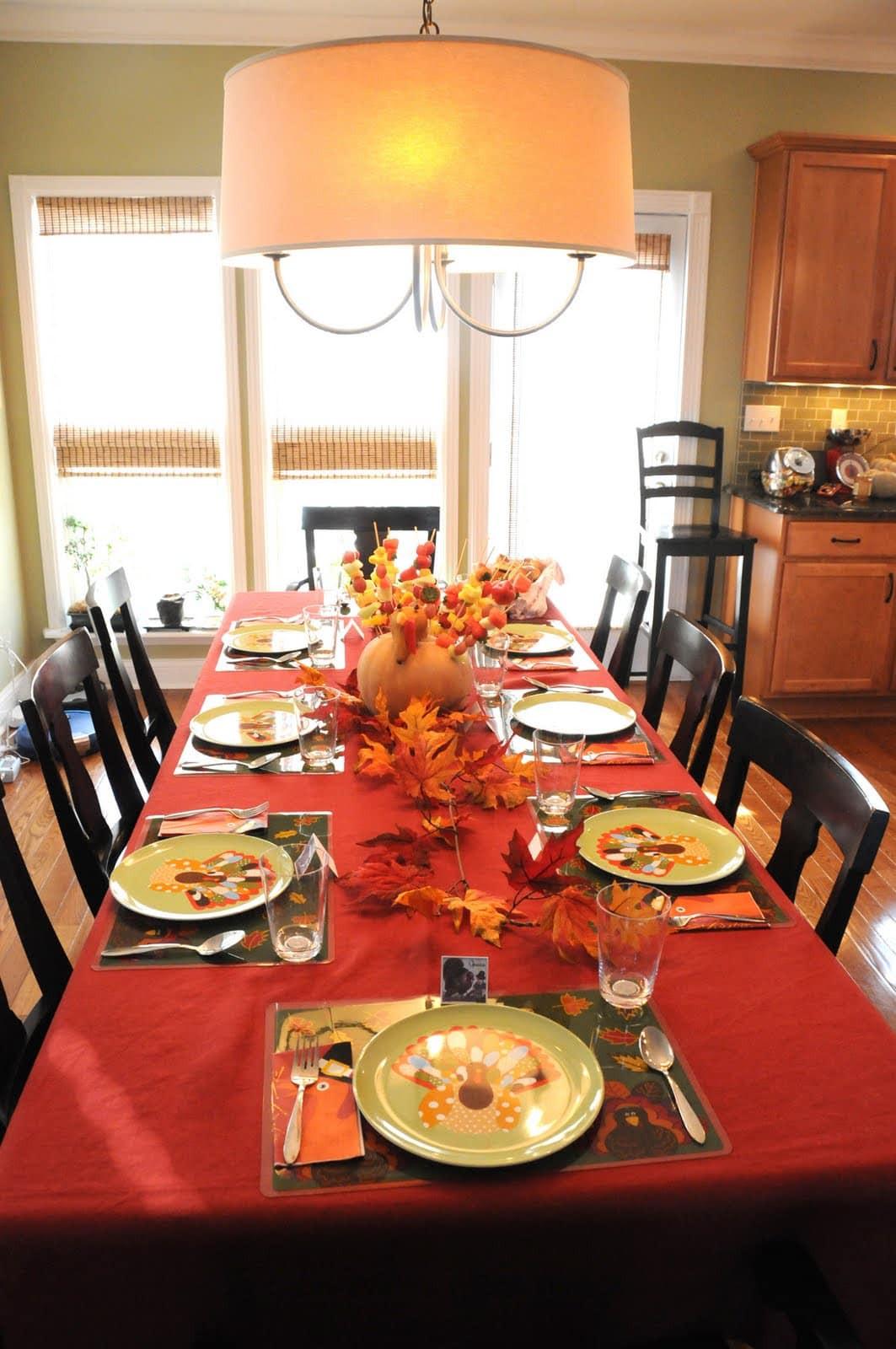 Thanksgiving Table Decor  Thanksgiving Decor The Polkadot Chair