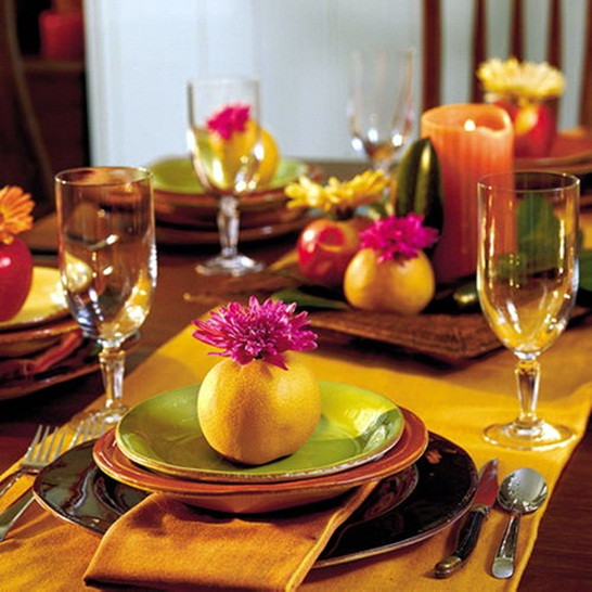 Thanksgiving Table Decorations  21 DIY Thanksgiving decorations and centerpieces savoring