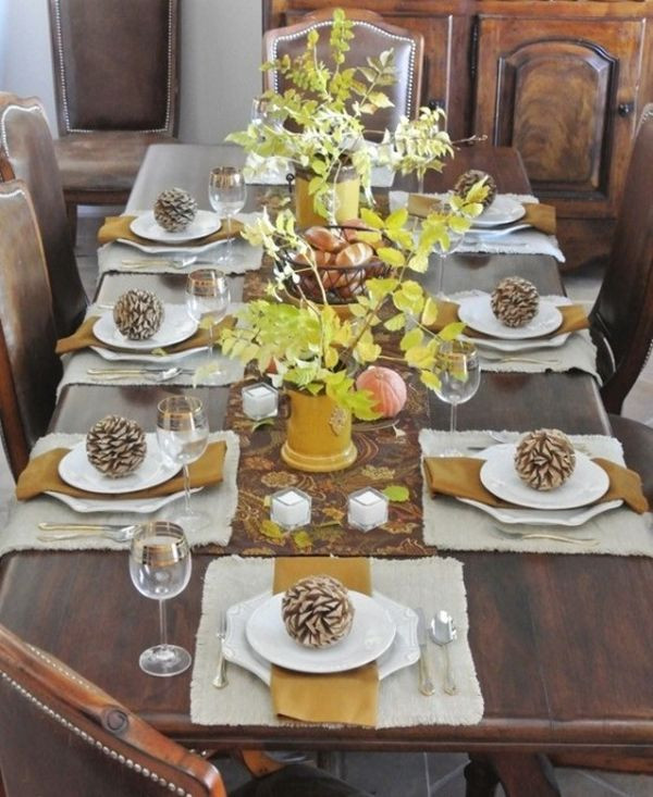 Thanksgiving Table Ideas  30 Thanksgiving Table Setting Ideas For A Festive Décor