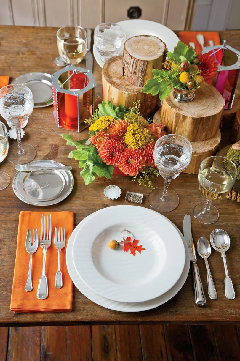 Thanksgiving Table Ideas  Natural Thanksgiving Table Decoration Ideas Southern Living