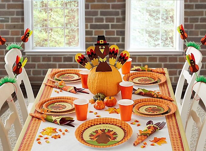 Thanksgiving Table Ideas  Thanksgiving Kids Table Ideas Party City