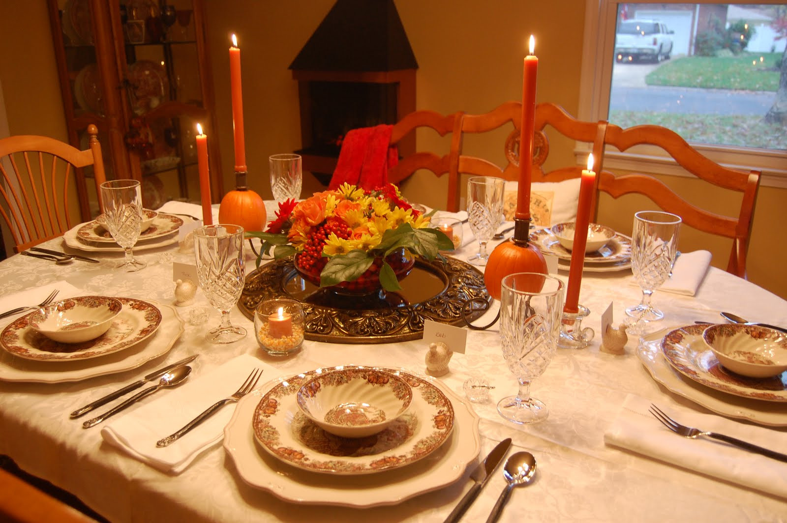 Thanksgiving Table Ideas  Ma Maison Thanksgiving Table