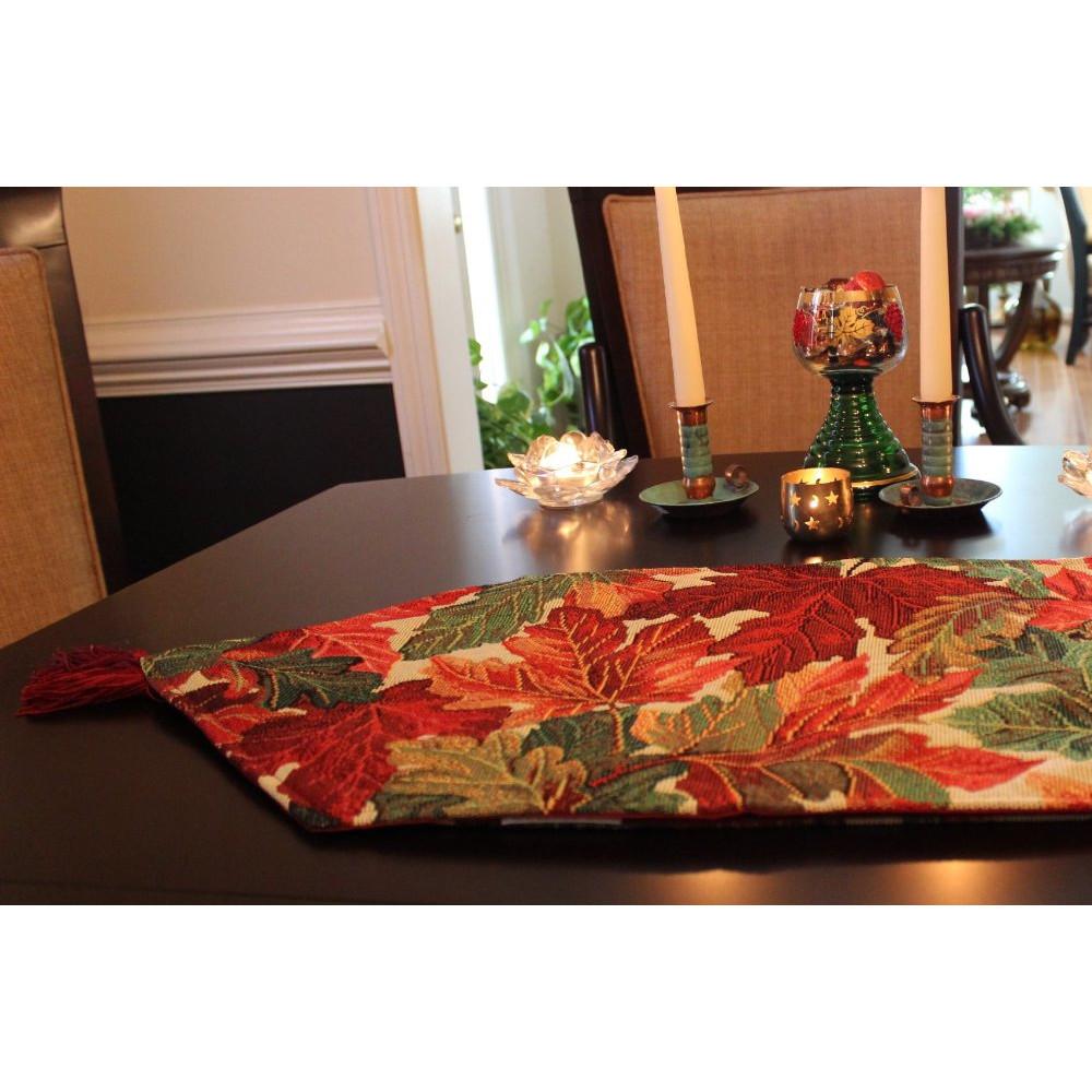 Thanksgiving Table Runner  Tache Home Fashion Thanksgiving Table Runner & Reviews