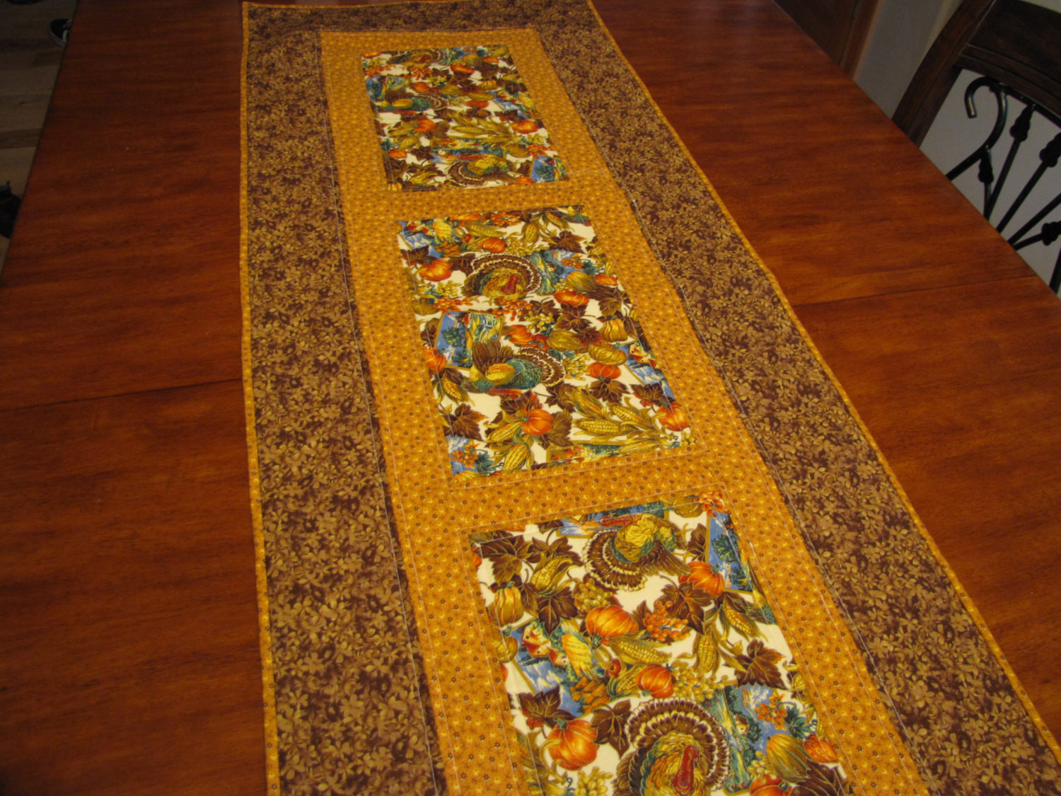 Thanksgiving Table Runner  Quilted Thanksgiving table runner