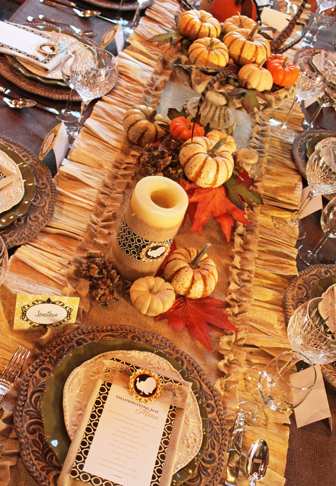 Thanksgiving Table Runner  Amanda s Parties To Go Tutorial Thanksgiving Burlap