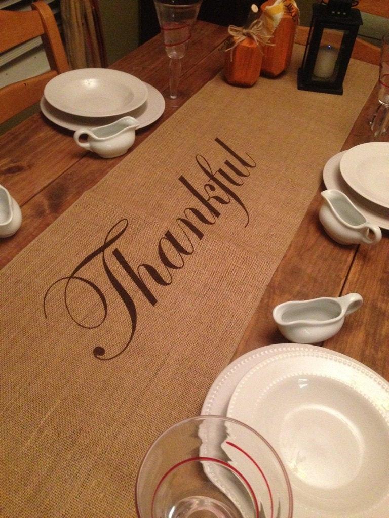 Thanksgiving Table Runner  Thanksgiving table runner Burlap Table Runner 12