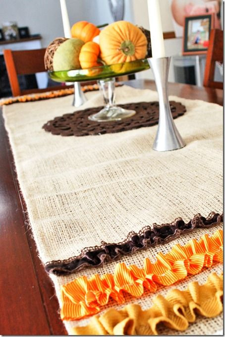 Thanksgiving Table Runner  1000 ideas about Fall Table Runner on Pinterest