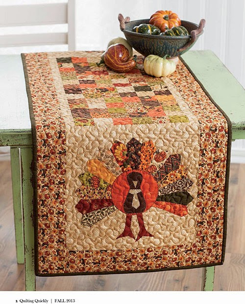 Thanksgiving Table Runners  Quilt Inspiration Free pattern day Thanksgiving