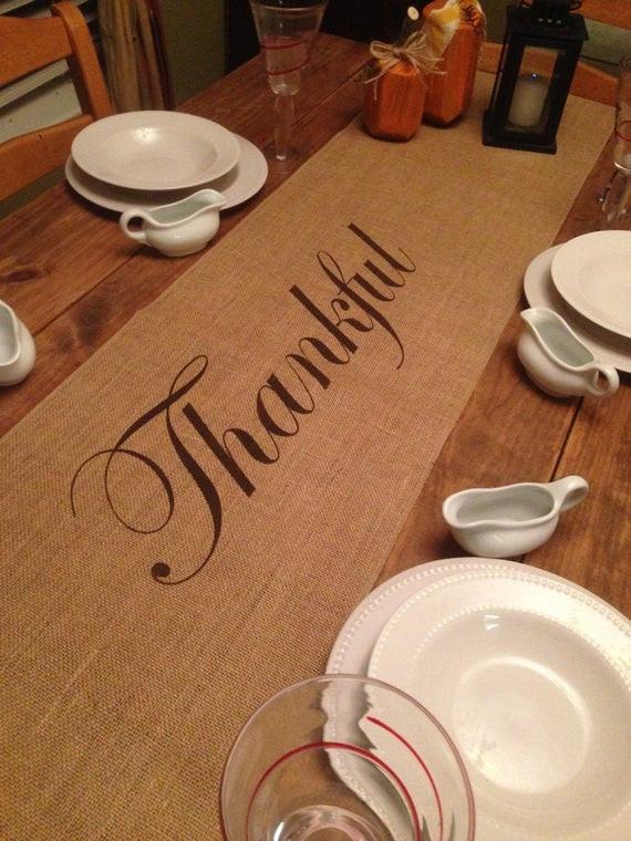 Thanksgiving Table Runners  Thanksgiving table runner Burlap Table Runner 12