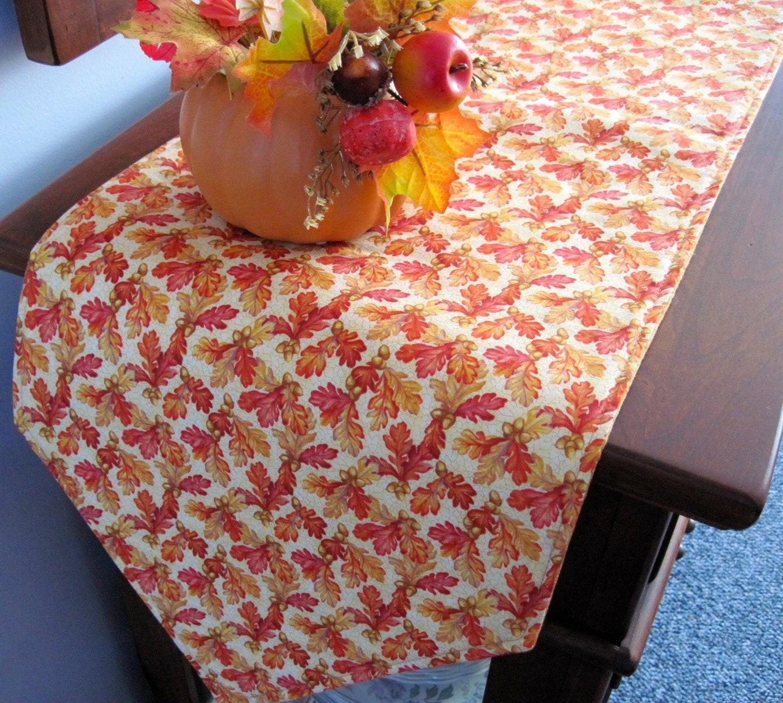 Thanksgiving Table Runners  90 Thanksgiving Table Runner Reversible Fall Leaves