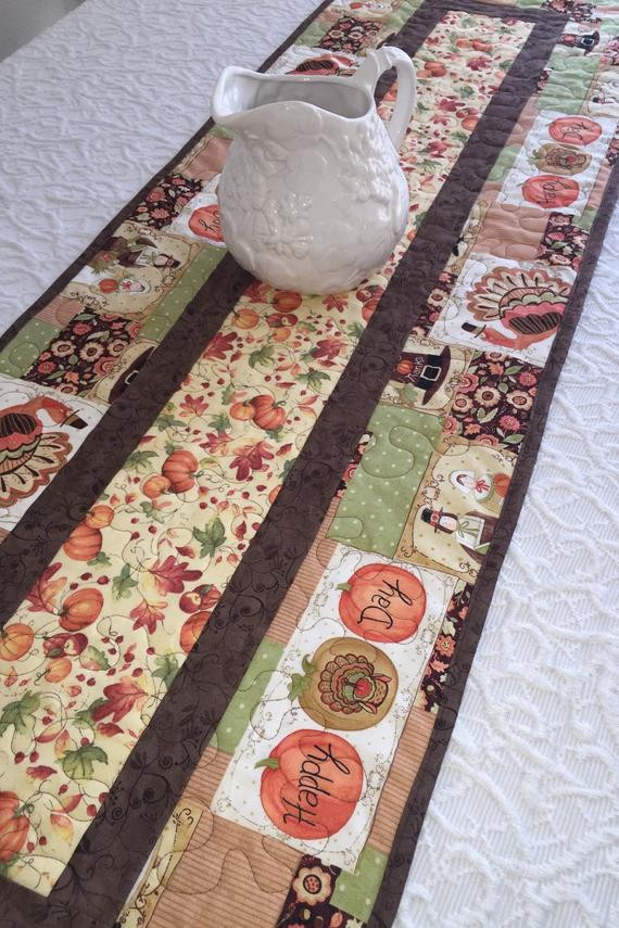 Thanksgiving Table Runners  Thanksgiving Patchwork Table Runners Page Two