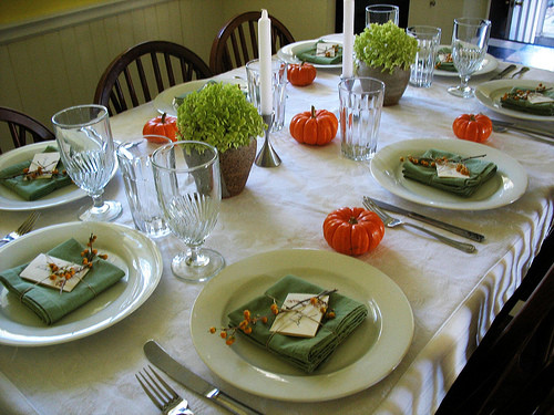 Thanksgiving Table Settings  Creative Thanksgiving Table Setting Ideas