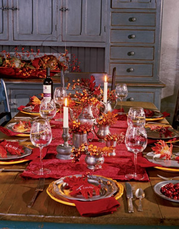 Thanksgiving Table Settings  Thanksgiving Decor In Natural Autumn Colors