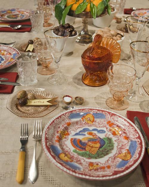 Thanksgiving Table Settings Martha Stewart  Martha s Thanksgiving Table Setting