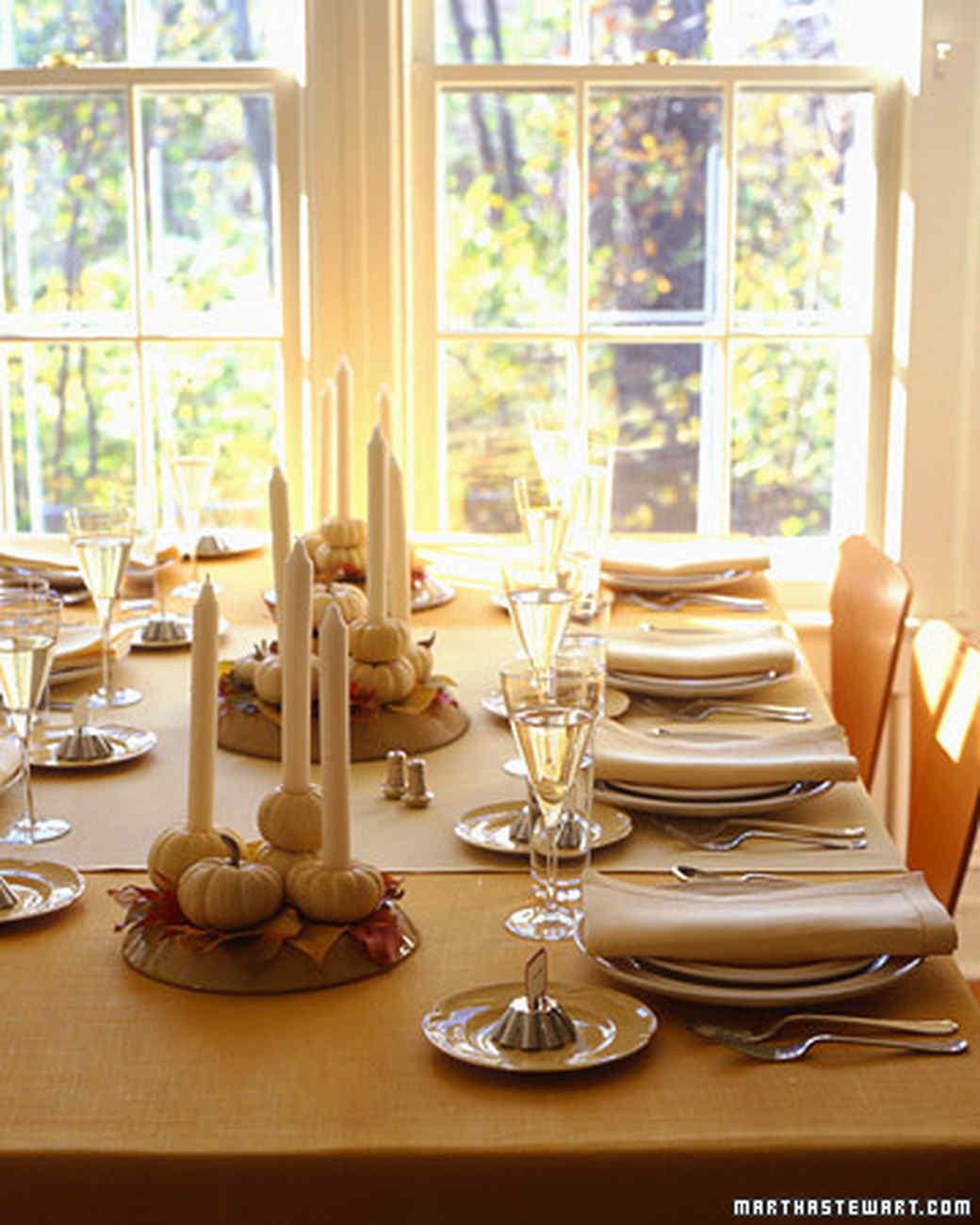 Thanksgiving Table Settings Martha Stewart  Thanksgiving Table Tableau Decorations