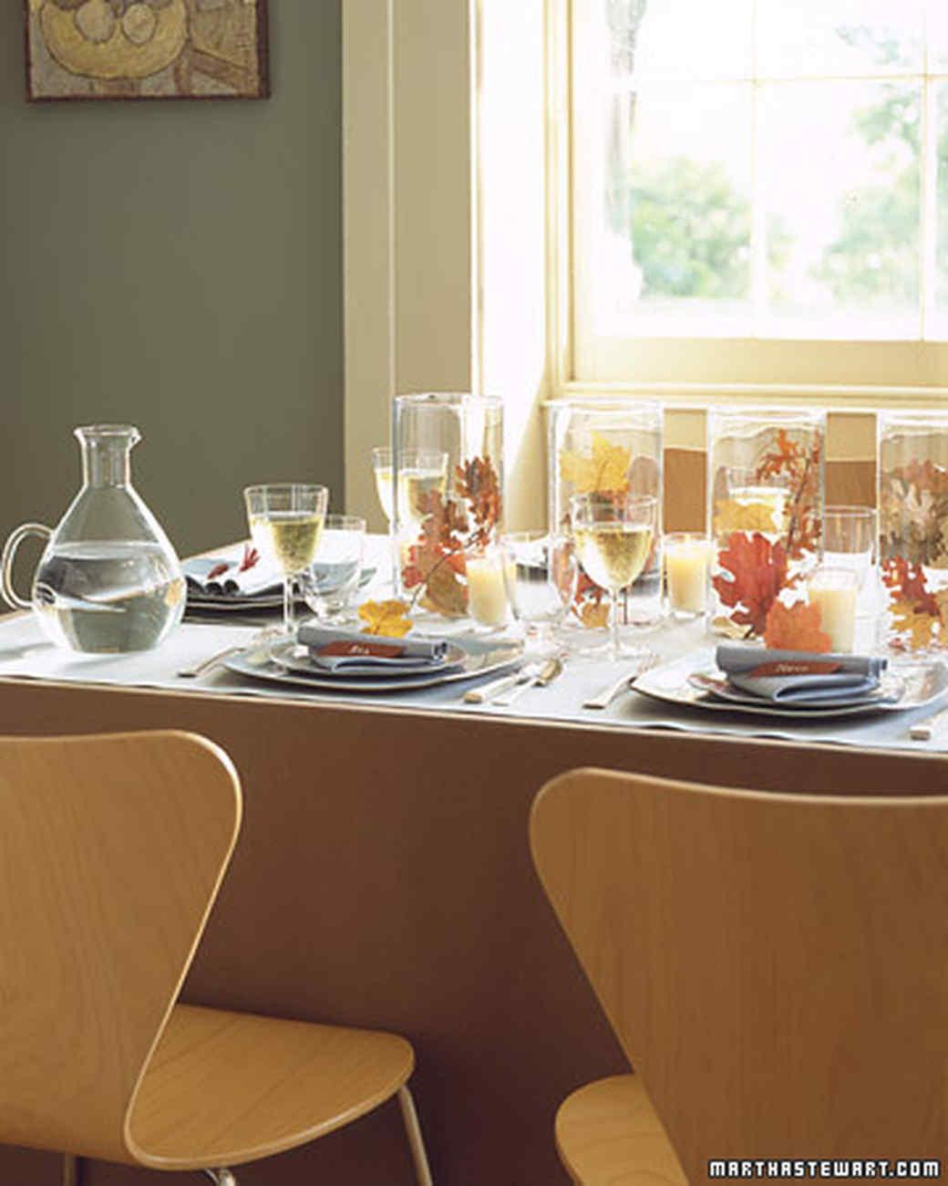 Thanksgiving Table Settings Martha Stewart  Setting a Thanksgiving Table